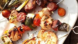 Grilled Chicken and Sausage Skewers